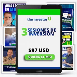 3 sesiones de inversión